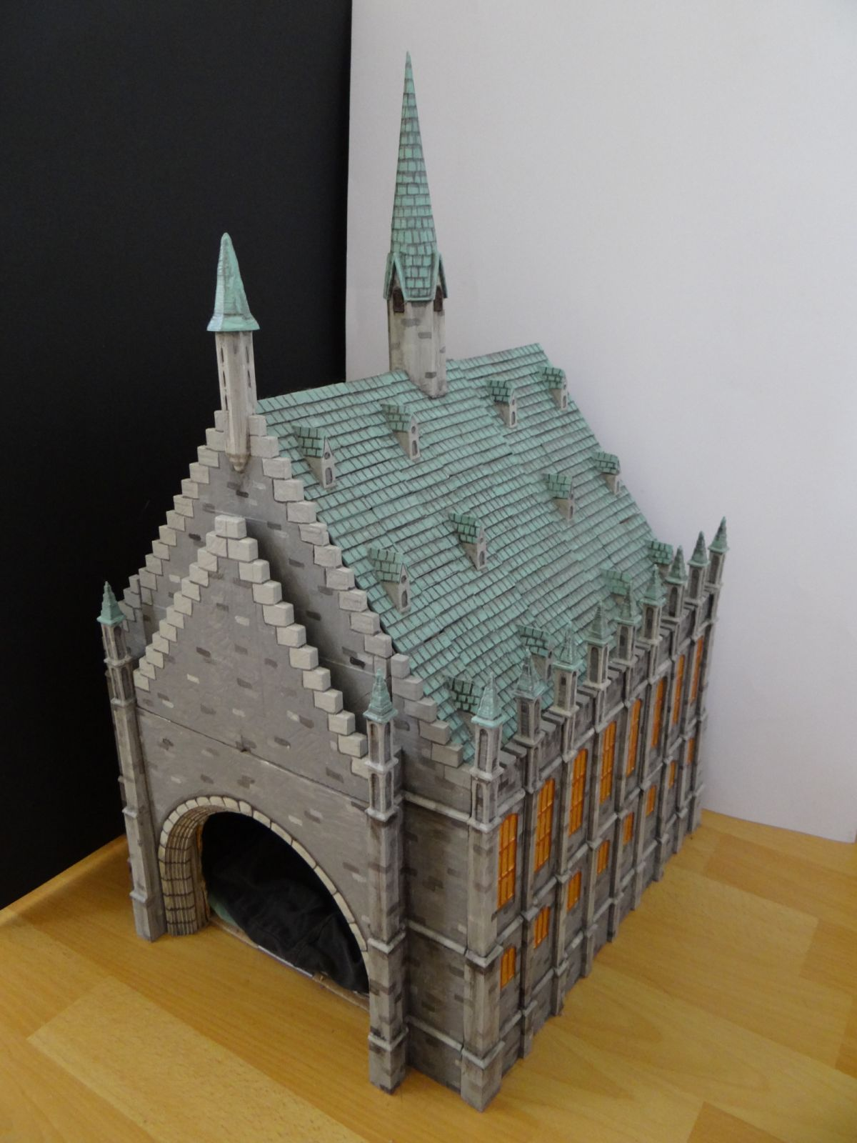 how to make hogwarts castle out of cardboard