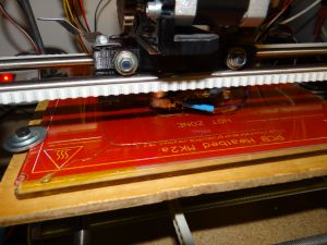 the first test print using the kapton tape