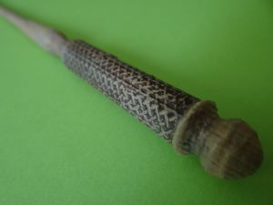 celtic wand handle painted